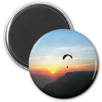 Imán Puesta del sol Paraglide
