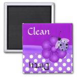 Imán púrpura bonito del lavaplatos de la mariquita