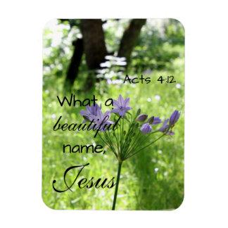 Imán púrpura del verso de la biblia del Wildflower