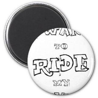 Imán Quiero montar mi bicicleta