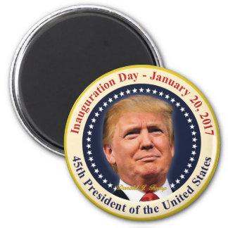 Imán Recuerdo del día de inauguración de presidente