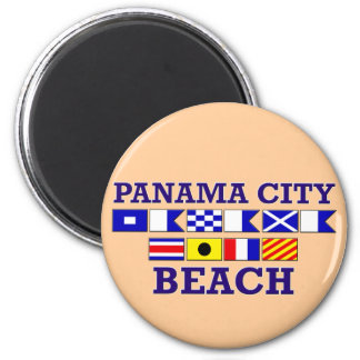 Imán redondo de la playa de ciudad de Panamá