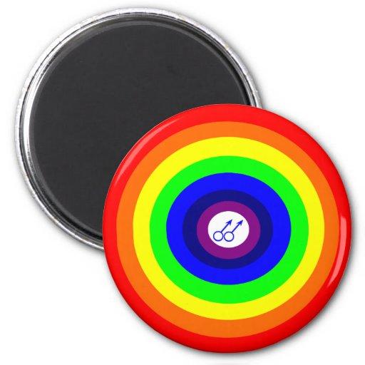 Imán redondo del arco iris de los hombres gay