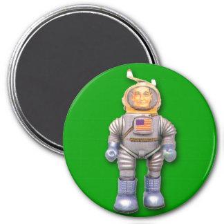 Imán redondo del astronauta del robot americano de