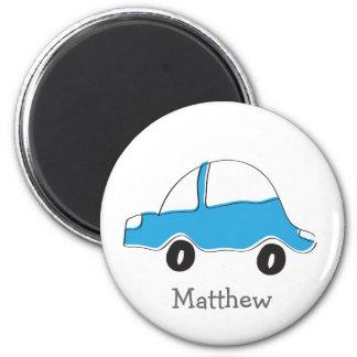Imán Regalos azules personalizados del bebé del coche