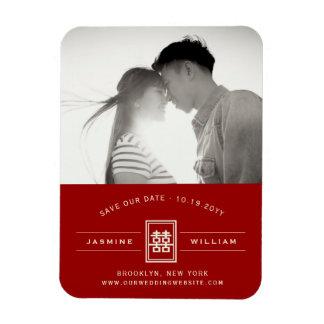 Imán Reserva china del boda de la felicidad doble roja
