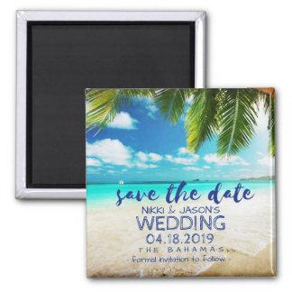 Imán Reserva del boda de playa de Bahamas los imanes de