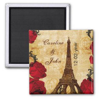 Imán reserva roja de París de la torre Eiffel del