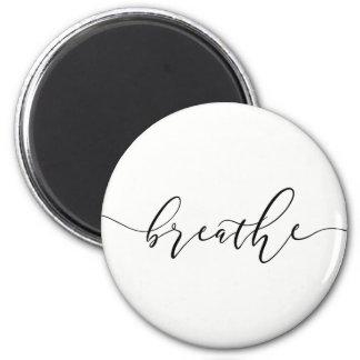 Imán Respire la yoga Minimalistic de la meditación