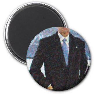 Imán Retrato abstracto de presidente Barack Obama