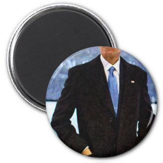 Imán Retrato abstracto de presidente Barack Obama 10