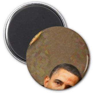 Imán Retrato abstracto de presidente Barack Obama 11