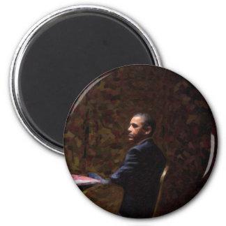 Imán Retrato abstracto de presidente Barack Obama 13
