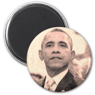 Imán Retrato abstracto de presidente Barack Obama 30x30