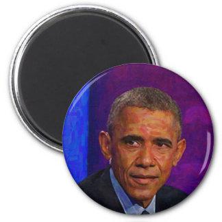 Imán Retrato abstracto de presidente Barack Obama 7