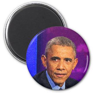 Imán Retrato abstracto de presidente Barack Obama 8