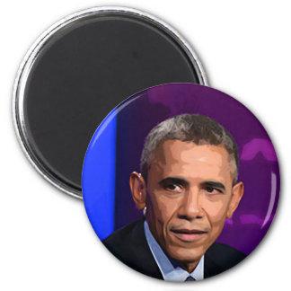 Imán Retrato abstracto de presidente Barack Obama 9