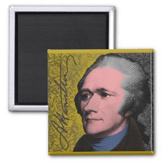 Imán Retrato del arte pop de Alexander Hamilton