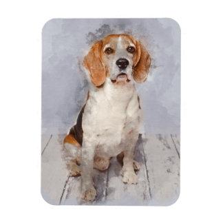 Iman Retrato lindo de la acuarela del beagle
