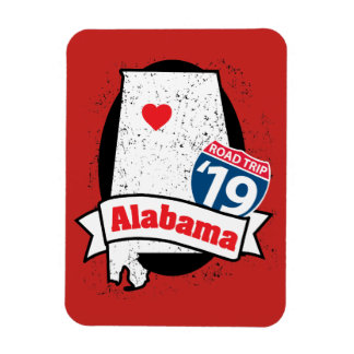 Imán Roadtrip '19 Alabama - rojo