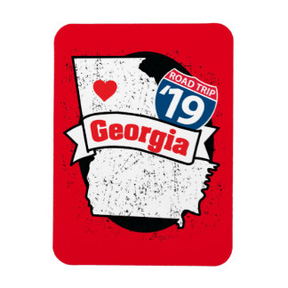 Imán Roadtrip '19 Georgia - (rojo/negro) flexmagnet