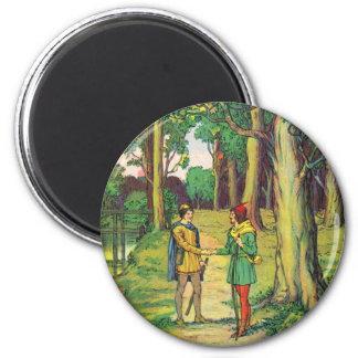 Imán Robin Hood y pequeño Juan