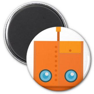 Imán Robot anaranjado