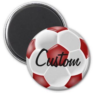 Imán rojo de encargo del balón de fútbol
