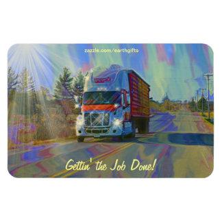 Imán rojo del arte de la carretera de Alaska del c