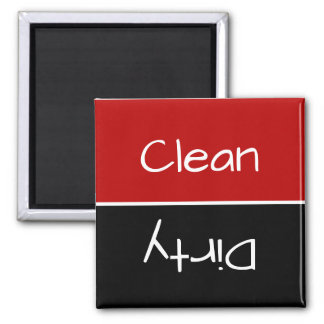 Imán rojo y negro del lavaplatos