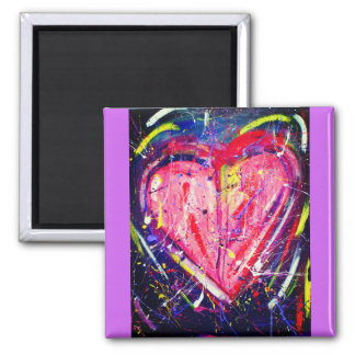 Imán rosado de Purple Heart