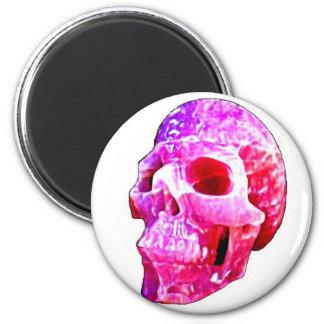 Imán rosado del cráneo