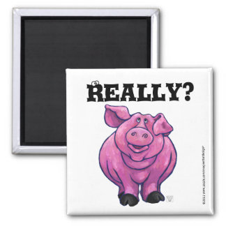Imán rosado del recordatorio de la dieta del cerdo