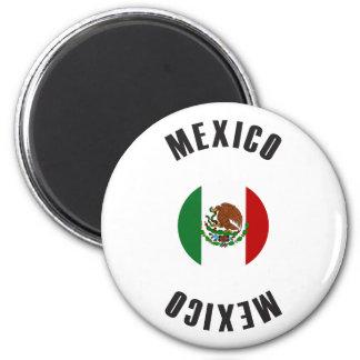 Imán Rueda de la bandera de México