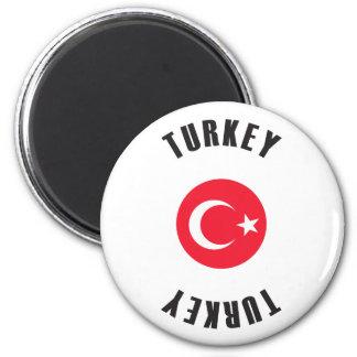 Imán Rueda de la bandera de Turquía