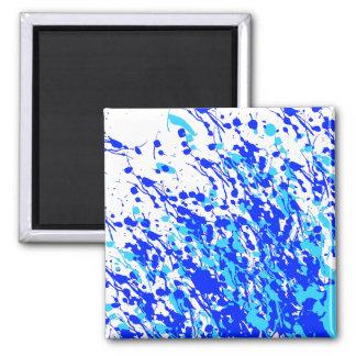 Imán Salpica de azul de la pintura