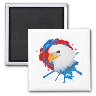 Imán Salpicón blanco de Eagle y azul rojo calvo