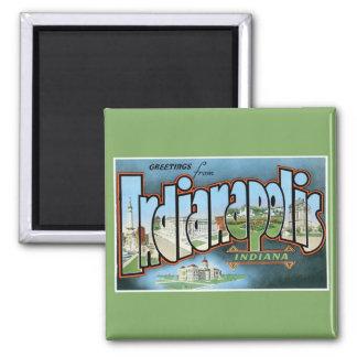 Imán ¡Saludos de Indianapolis Indiana! Vintage