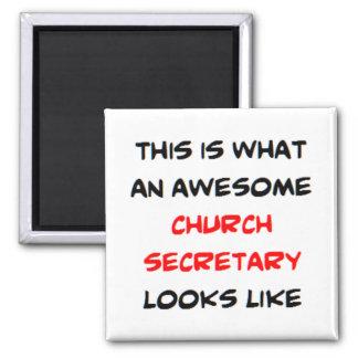 Imán secretaria impresionante de la iglesia
