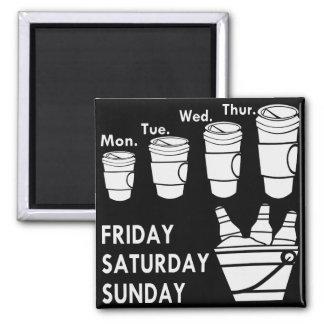 Imán Semana del café y fin de semana de la cerveza
