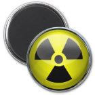 Imán Señal de peligro radiactiva del símbolo de la