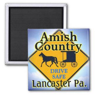 Imán Señal de tráfico Magnet.Lanc. de Amish Horse&Buggy