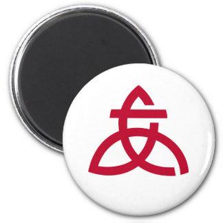 Imán Símbolo de la ciudad de Japón de la bandera de