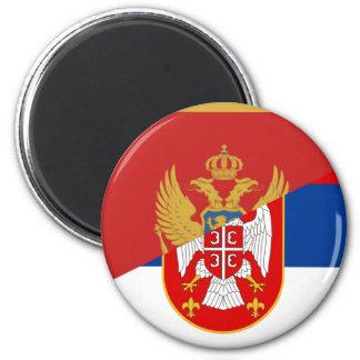Imán símbolo del país de la bandera de Serbia