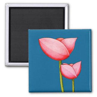 Imán simple del azul de las flores