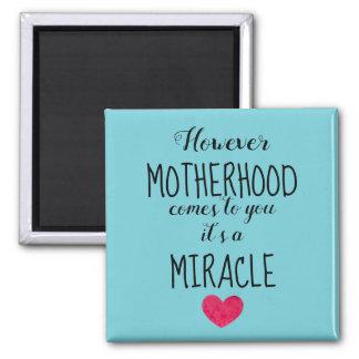 Imán Sin embargo la maternidad viene a usted, adopción