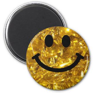 Imán smiley del oro de la Brillante-mirada (gráfico del