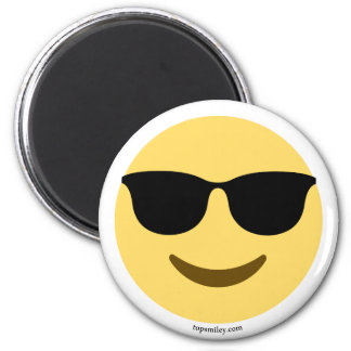 Imán Smiley Emoji con gafas de sol geniales
