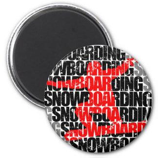 Imán Snowboard #1 (negro)
