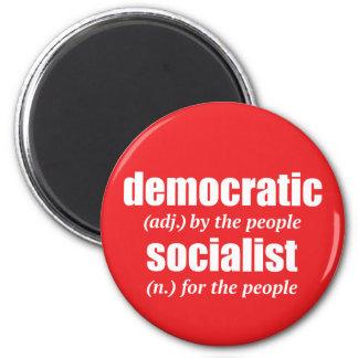 Imán socialista Democratic de la definición